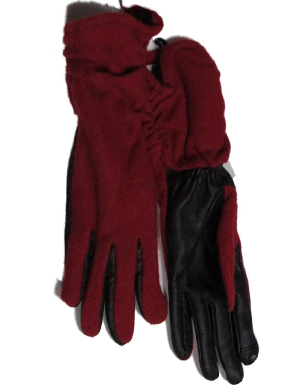 Charter Club Women's Touch Screen Fleece Lined Wool Gloves Red