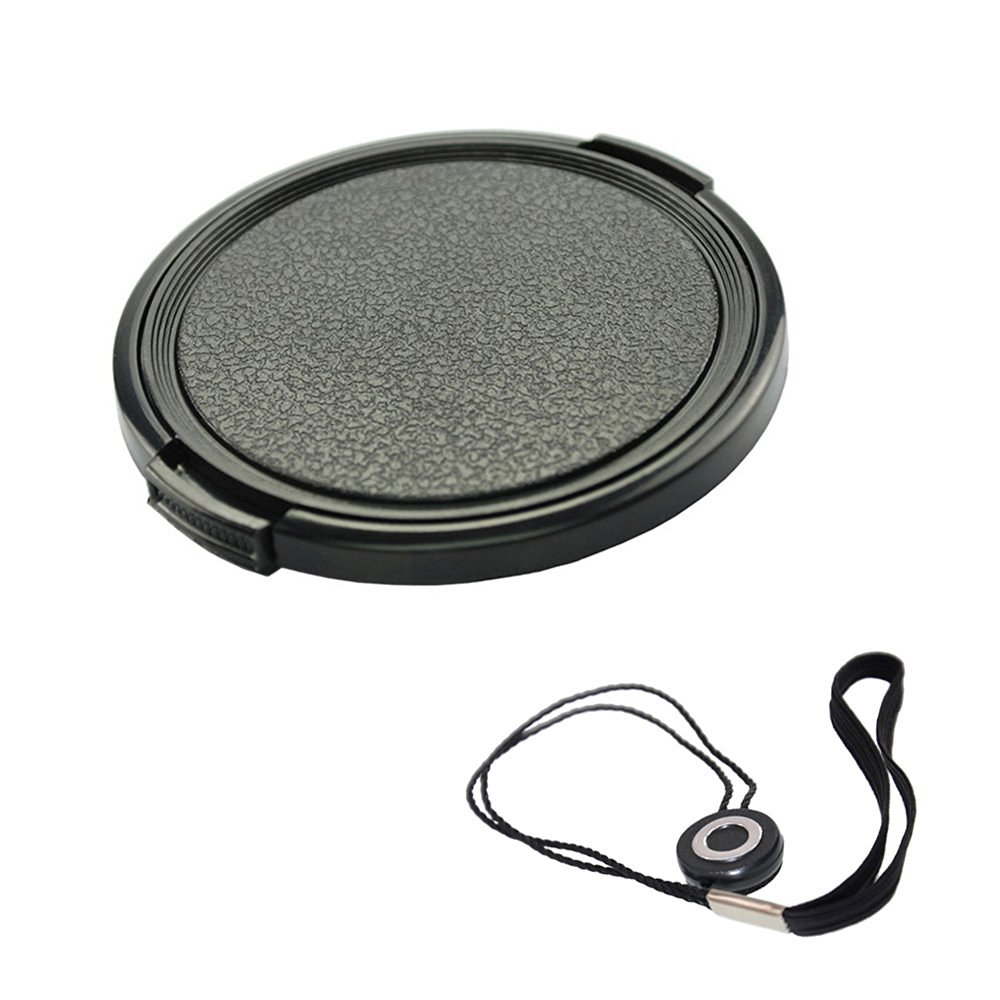 FoRapid 67mm Side-Pinch Snap-On Front Lens Cap/Cover with Lens Cap Holder Keeper for Canon Nikon Sony Olympus Pentax all DSLR Cameras