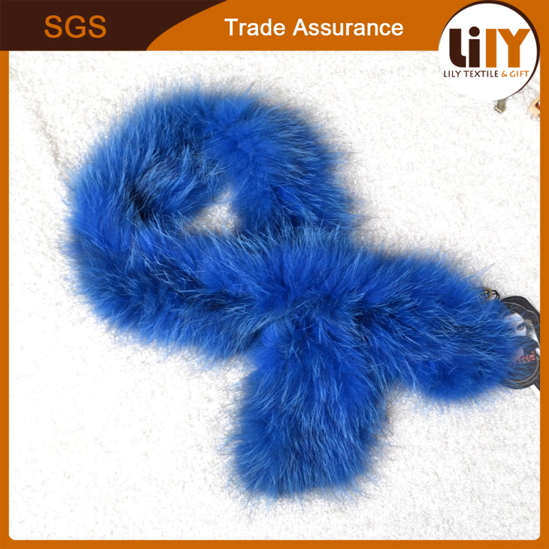 Solid color winter lady fox fur collar scarf handmade wholesale fur scarf scarves 2017