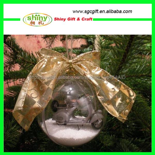 Bolas Decoradas Esferas De Navidad Transparentes Artículos