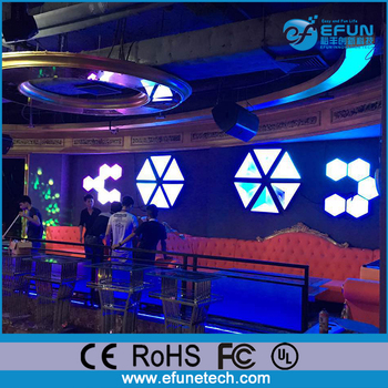 Diy 3d Triangle Shape Decorative Rgb Color Changing Led Light Wall Panels -  Buy Led Light Wall Panels,Led Video Wall Panel,Frameless Led Light Panel