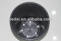 cheap round plastic black nursery container