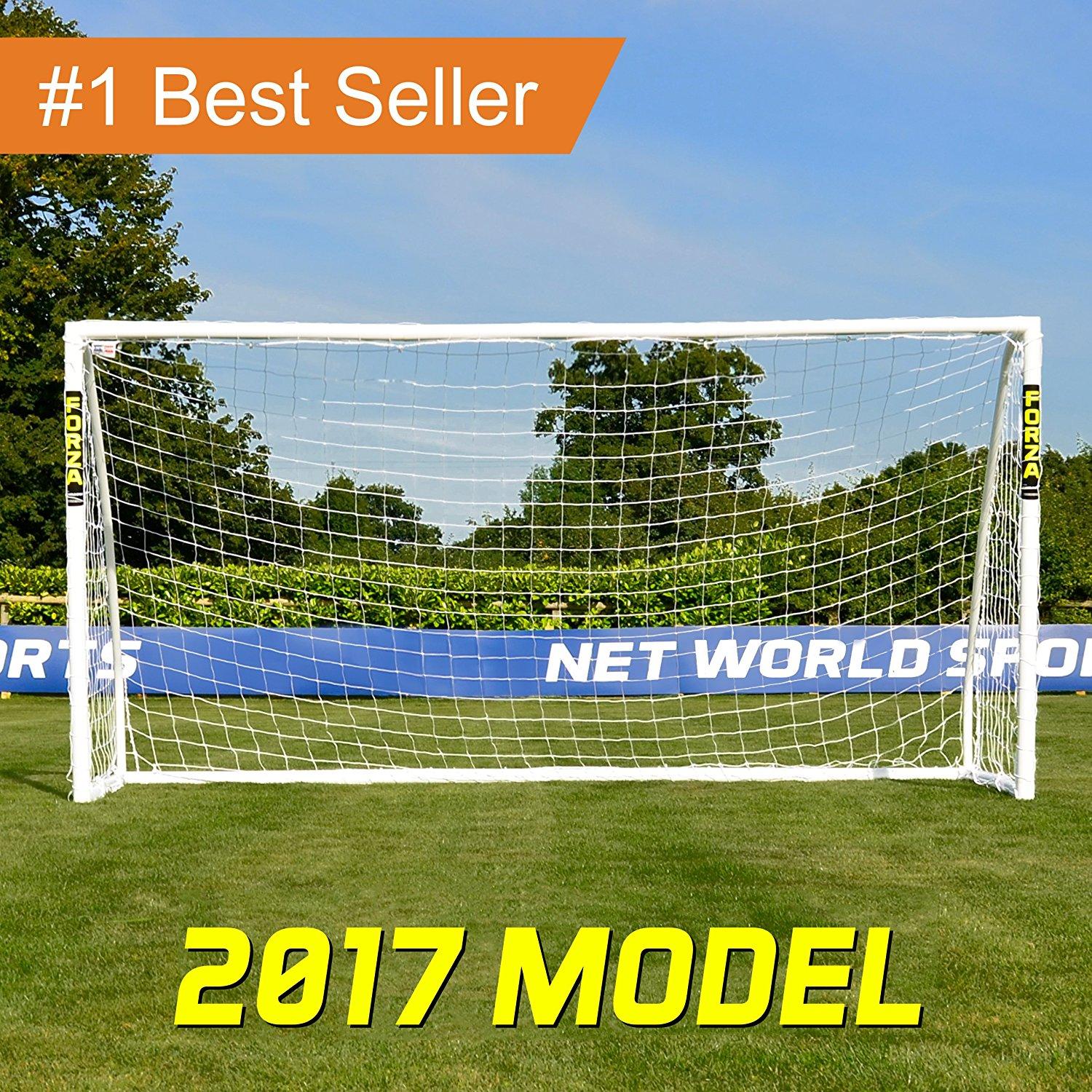 FORZA Soccer Goal - The Ultimate Home Soccer Goal! Leave These Soccer Goals Up In All Weather Conditions. FORZA Soccer Goals Can Take 1000s Of Shots!