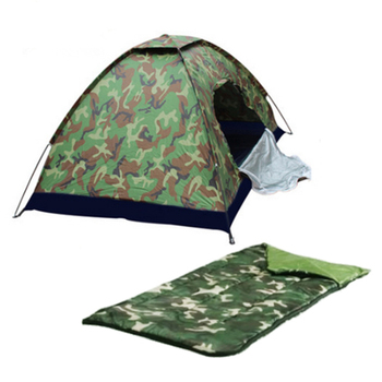 Outdoor Dome Play Camping Tent With Sleeping Bag Combo Set Travel Product On Alibaba