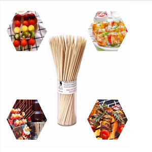 High quality food grade round and square bamboo BBQ skewer
