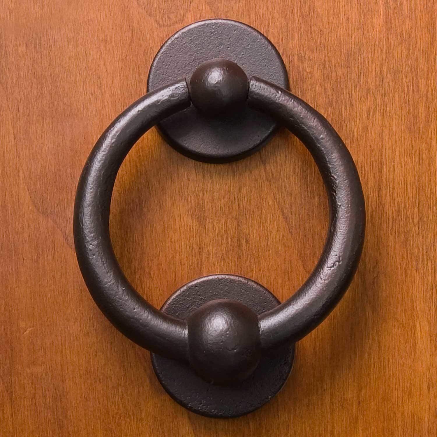 "Casa Hardware 3-3/4"" Solid Bronze Ring Door Knocker - Bronze Patina"