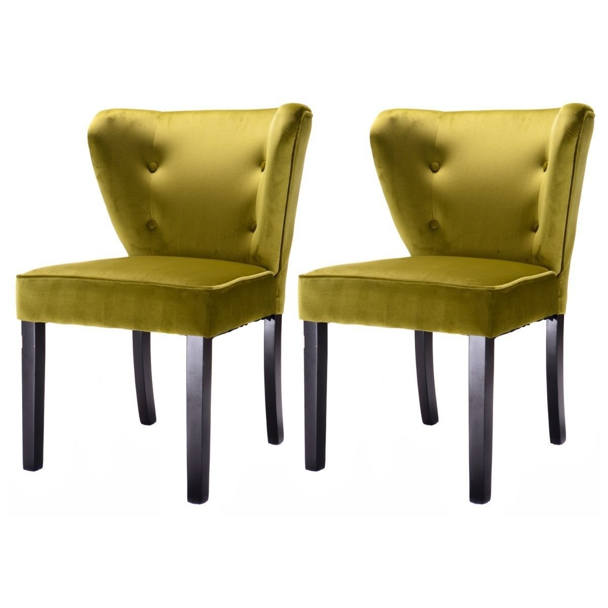 Swell Buy Giantex Set Of 2 Armless Accent Dining Chair Modern Gmtry Best Dining Table And Chair Ideas Images Gmtryco