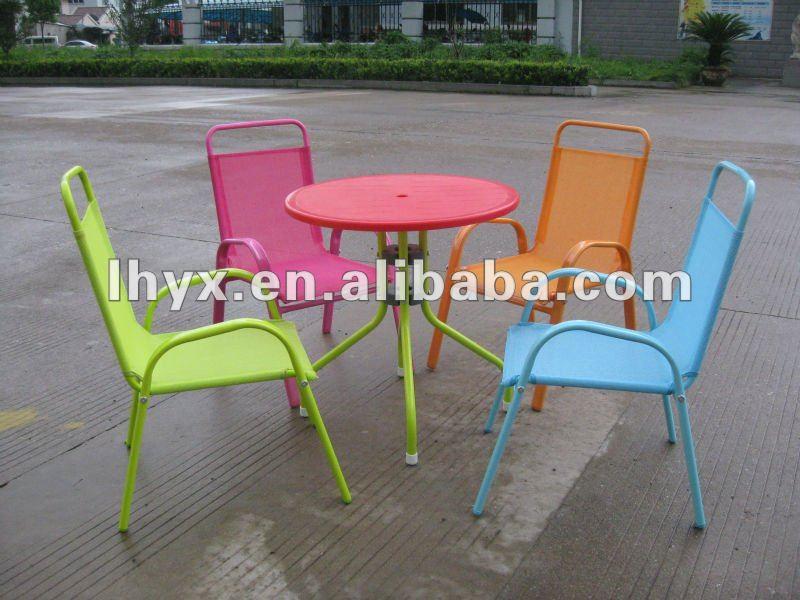 Metal Children Garden Furniture Set/metal Kids Table And