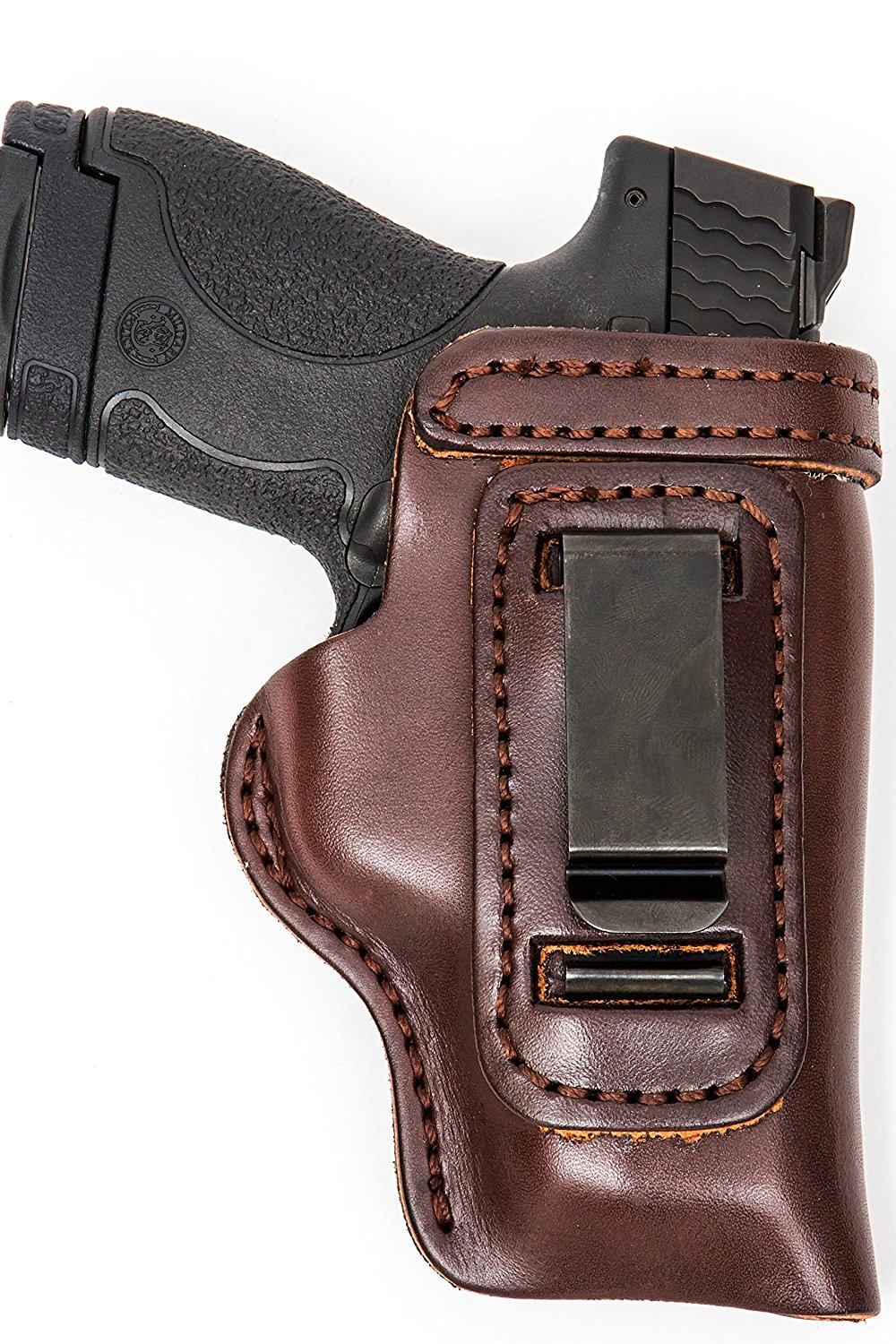 The Holster Store: Leather Gun Holster For Kimber Micro 9 380 IWB or OWB Leather Gun Holster RH LH IWB Inside The Waistband RH Right Hand or LH Left Hand Black or Brown HD