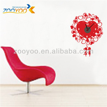 ZY824 Red Love DIY Clock Wall Decals/Removable Wall Clock Stickers  sc 1 st  Alibaba & Zy824 Red Love Diy Clock Wall Decals/removable Wall Clock Stickers ...