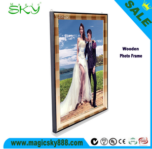 Hot sales A1 A2 A3 A4 wood collage photo frame stand