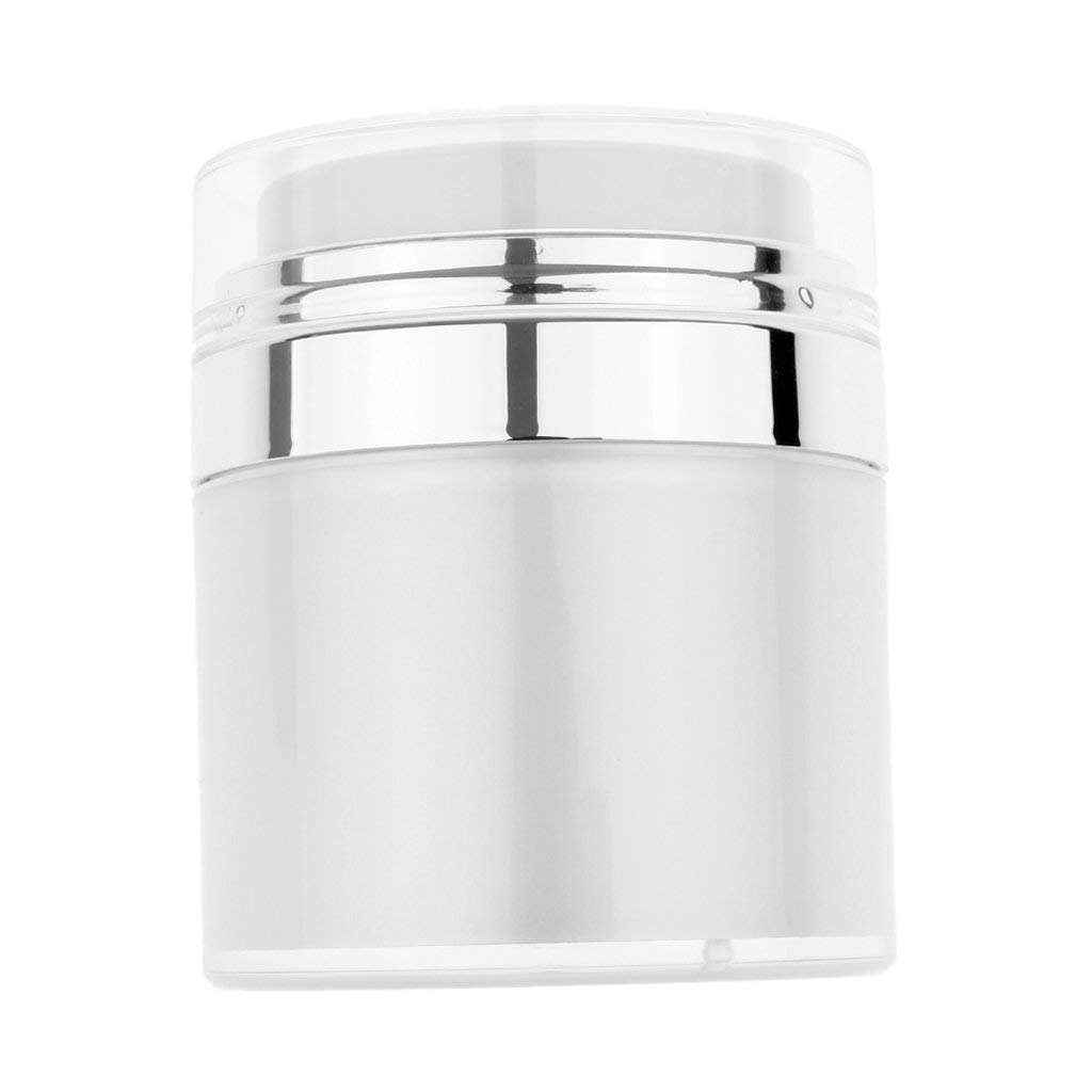 Fityle Empty Acrylic Small Pressed Cosmetic Containers Travel Makeup Toiletry with Jars, Leakproof Makeup Jars for Cream Gel Paste, Great for Travel - 50g