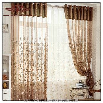 Flimsy Fabrics , Relief Embroidery Sheer Curtain Panel,thin Curtain Fabric