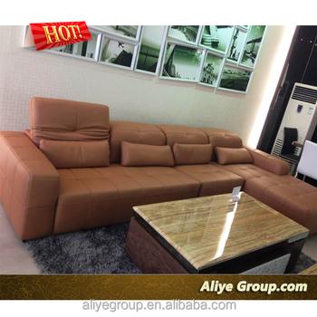 Best Price Livingroom Made In China Full Grain Leather Sofa 568