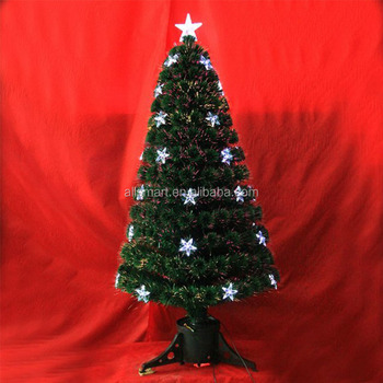 3' Green Small Fiber Optic Color Changing Artificial Christmas Tree Parts  with LED Lights - 3' Green Small Fiber Optic Color Changing Artificial Christmas Tree