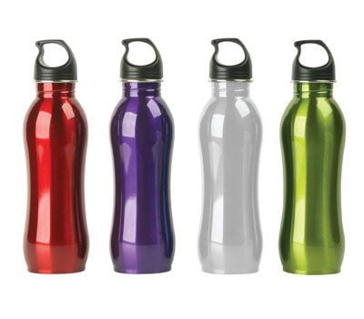 drinkware custom stainless steel sports canteen curved outdoor water bottle