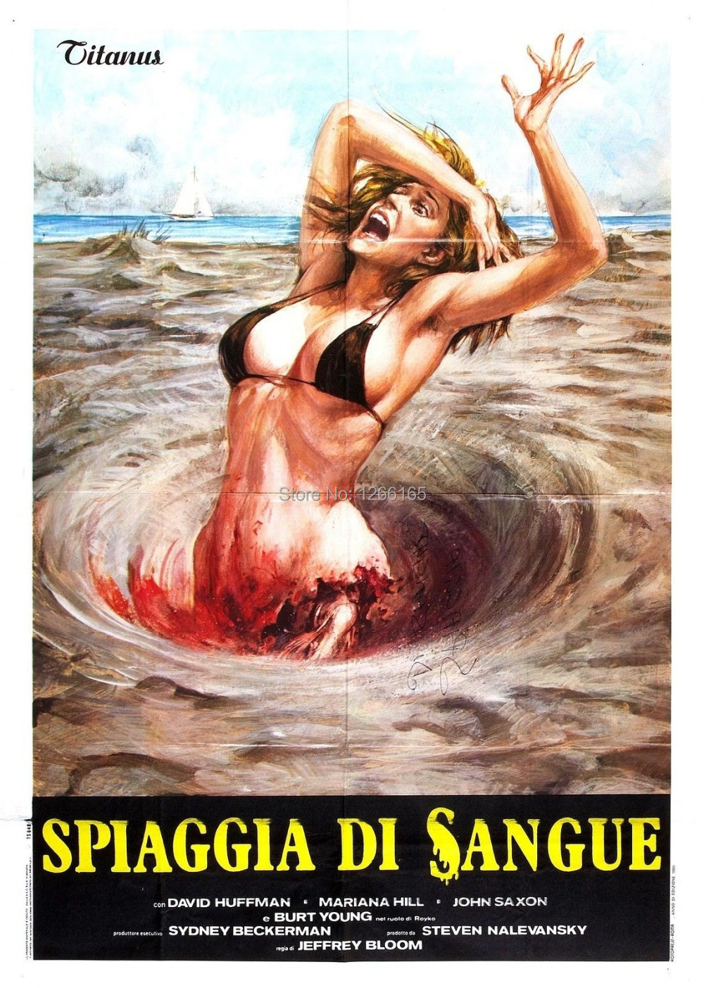 BLOOD BEACH Movie Poster 1980 Horror Sci-Fi Print Silk poster Home Decoration 12x18 24x36 inch
