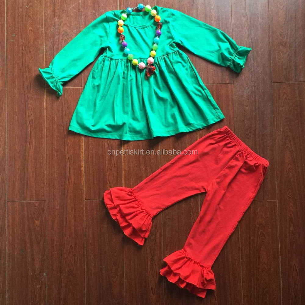 Christmas clothing for kids baby frock pakistan ruffle capri wholesale trendy plus size clothing mustard garments stock lots