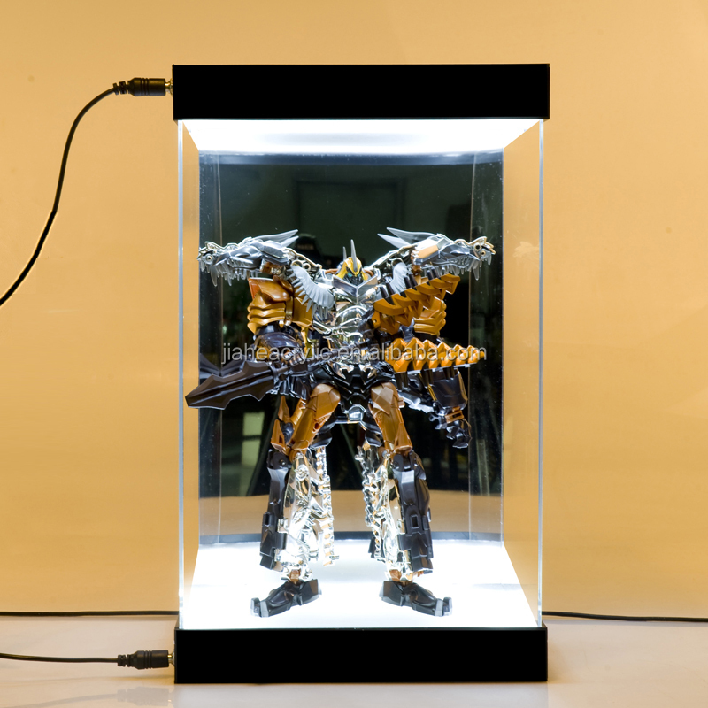 Very Perspex/organic Glass Led Light Clear Acrylic Box Display Case For  TN06