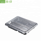 Easy Green PP Microwavable Black Disposable To Go Lunch Takeaway Container Plates With Cover