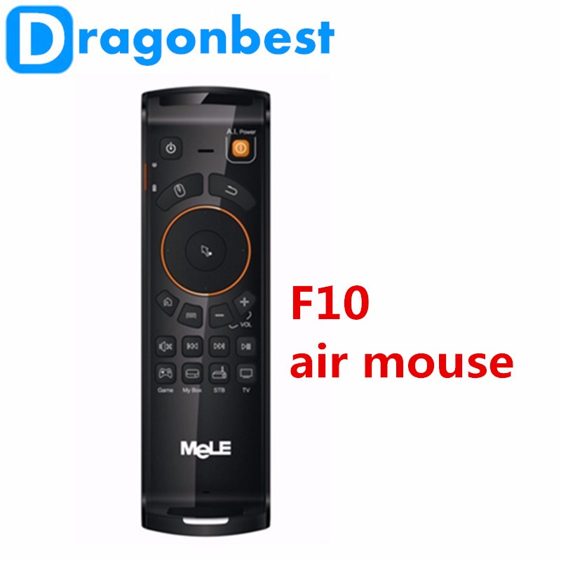 Fly Air Mouse Draadloze Toetsenbord Afstandsbediening MeLE F10 Deluxe 2.4 GHz Gyro IR Leren voor Android TV Box