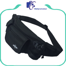 black waist bag men bum bag, bicycle sports running belt fanny pack wholesale