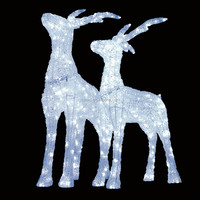 Customized fanny life size sculpture led lights reindeer outdoor