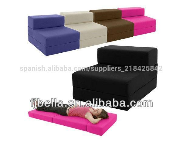 De algod n sola silla cama de invitados z veces fuera for Sillon cama individual ikea