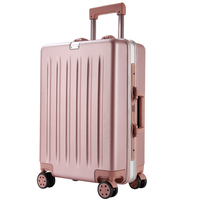 China luggage factory luggage bags for airport luggage cars. Pc&abs aluminum frame 20-inch hard shell cases