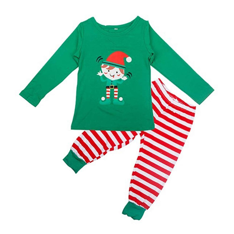 Get Quotations · Meijunter Family Matching Christmas Pajamas Set - Cute  Santa Printed Sleepwear 9d0a63115