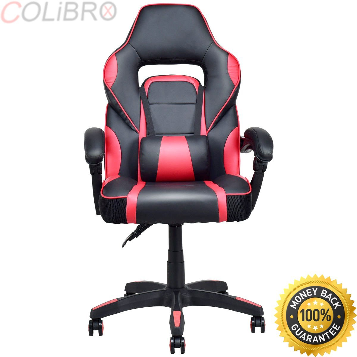 COLIBROX--Executive Racing Style PU Leather Gaming Chair High Back Recliner Office Red. high back executive racing reclining gaming chair swivel pu leather office chair. best gaming chair amazon.