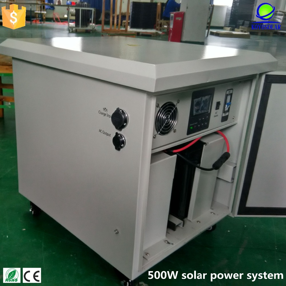 high quality energy saving small house 500W solar power system