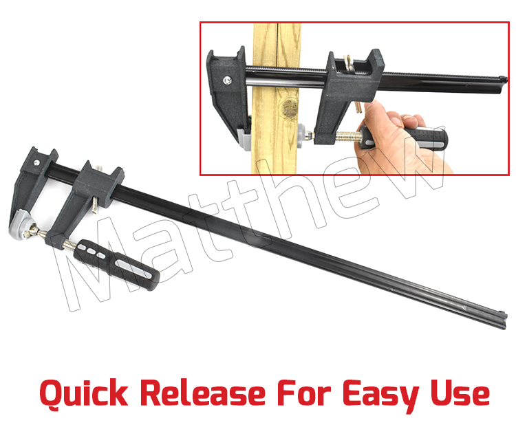 Plastic Handle Quick Release F Clamp for Woodworking