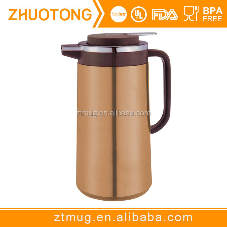 Safe and health food grade stainless steel arabic vacuum flask coffee pot/wide mouth tea pot