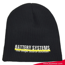 Letters embroidered striped teenagers knitted hats beanie Custom double-sides wear beanie with patch logo