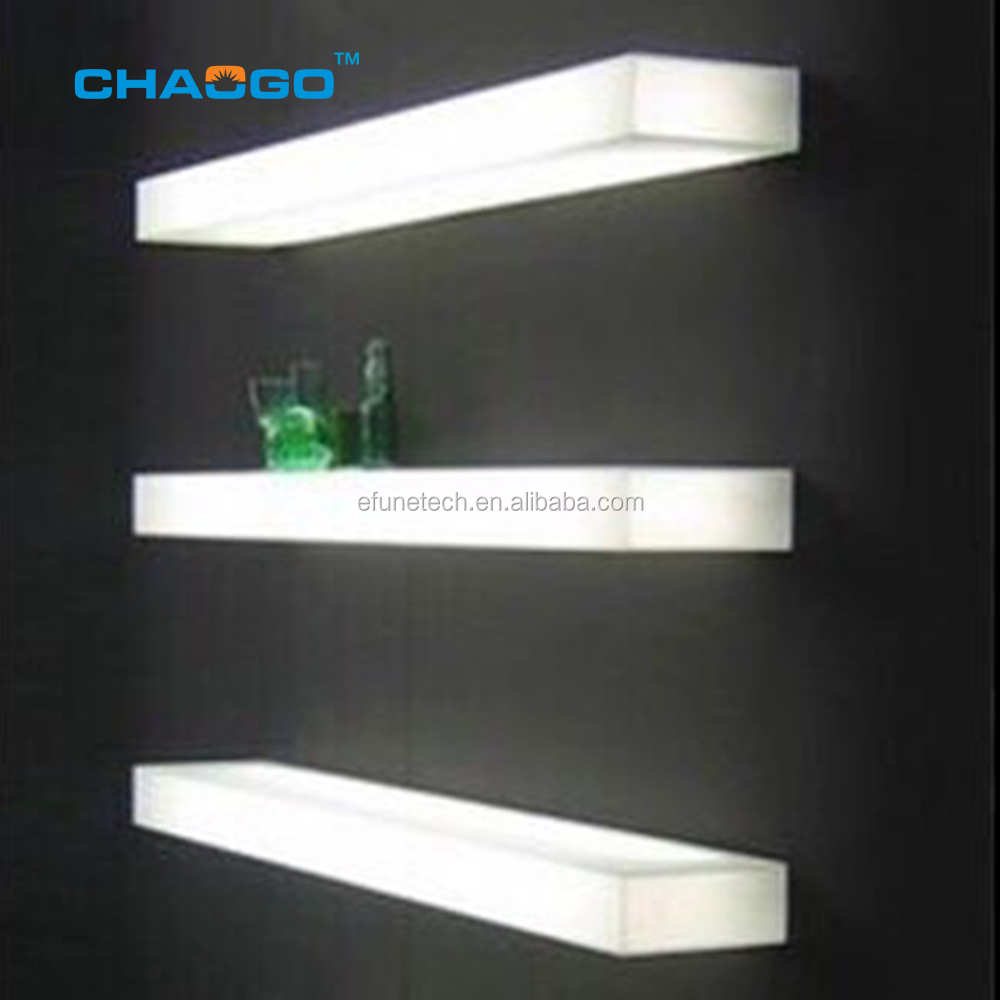 """24"""" WALL MOUNTED LED COLOR CHANGING REMOTE CONTROLLED ACRYLIC HOME//BAR SHELF"""