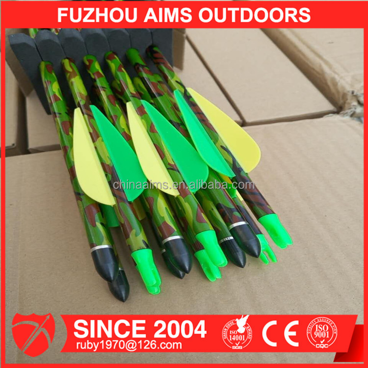 Pure Carbon Arrows Archery camouflage 7.8mm Carbon Shaft Arrows Spine 300 for Recurve Bow and Compound Bow