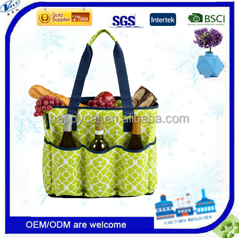 green and orange color THERMAL COOLER TOTE BAG
