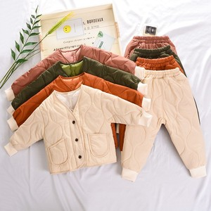 Fall Winter Keep Warm Kids Outfits Solid Color Baby Gile Boy Boutique Outfits