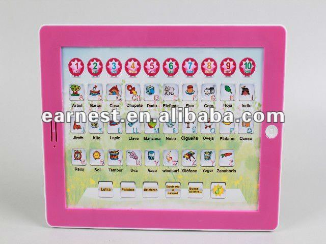 Educational Learning Pad / Tablet Toys in Spanish