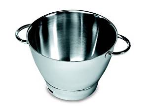 Kenwood 36386B, Attachment Major Sized Stainless Steel Bowl with handles, OVERSEAS USE ONLY, WILL NOT WORK IN THE US