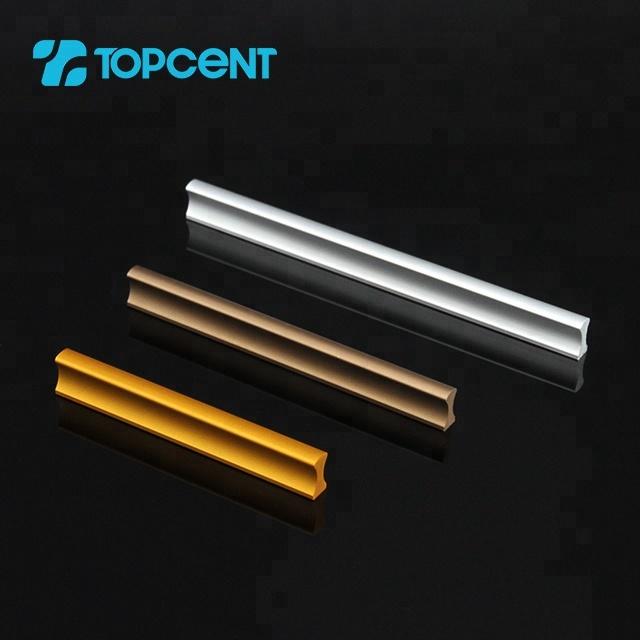 Topcent bathroom furniture aluminum profile pull door handle