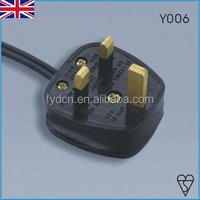 FYD-C3 UK power lead/Britain laptop power cords/BSI approval UK Computer Power Cable Lead