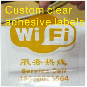 Custom transparent label printing,clear labels Wi Fi printing