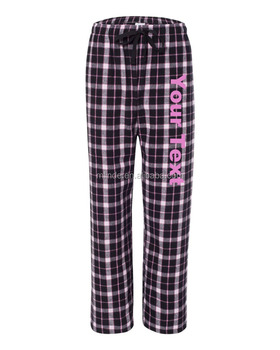 6b0aa8c4a Mulheres Costume Pijamas 100% Algodão Xadrez Calças de Pijama de Flanela