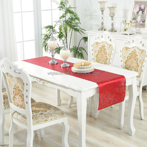45 x 152cm Decorative Waterproof PVC Plastic Table Runner Metallic Red
