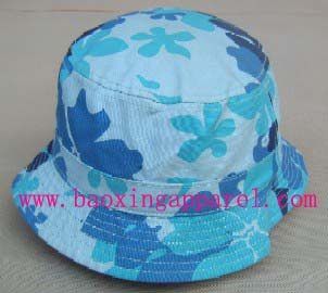 Flores de hippy costume bucket hat