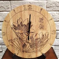 chinese creative design home decoration wooden mdf sublimation wall clock