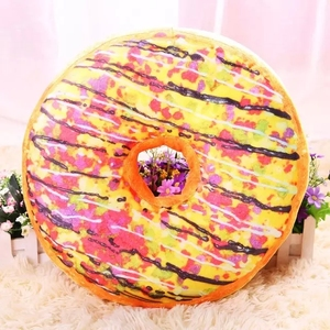 2019 hot sell soft plush toy sofa donut cusion
