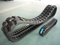 Steel plate reinforcement construction machinery rubber track pad with high strength